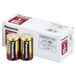 【パナソニック】 アルカリ乾電池単1形(10本)