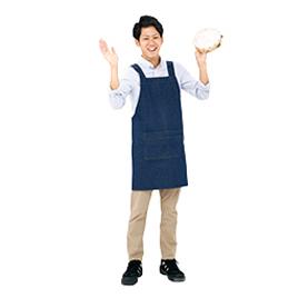 【サロンジェ】 デニムエプロン